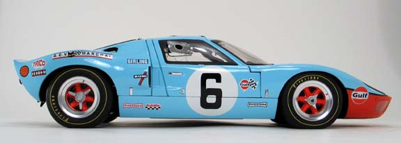 Ford GT40 gmp 1/12 scale diecast side view